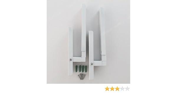 FORNO a Microonde Universale Regolabile per montaggio a parete STAFFE estendibile fino a 480 mm BIANCO