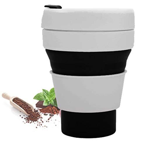 Schützen Tee (Kaffee-Untersetzer aus Silikon, Deckel für chinesische Elemente, Weinglas, Tee, Geschenkidee, Lebensmittelqualität, Anti-Staub-Abdeckung, Kaffeetisch, Beer, Flasche Coffee cup black)