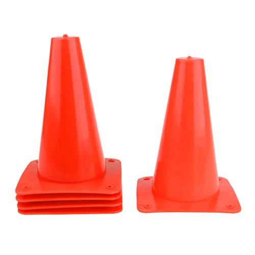 B Baosity 5 x Markierungskegel Markierkegel Sicherheitskegel für Fußball Training - Orange