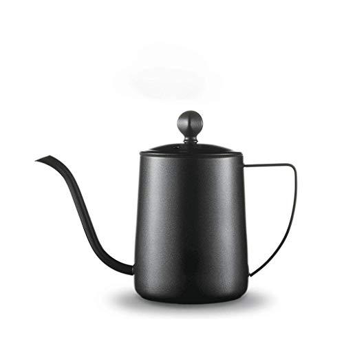 JXLBB 350 ML Negro Acero Inoxidable Mano Café Olla Teflon Boca Larga...