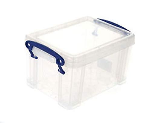 6 x Really Useful Box Aufbewahrungsbox 1,6 Liter inkl. Deckel - transparent