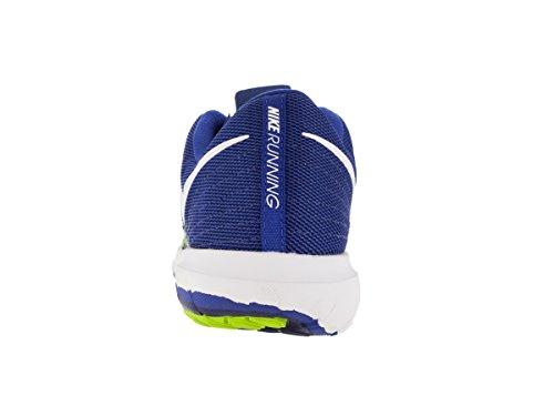 Nike Flex 2-Fury-Chaussures running Homme Azul / Blanco / Lima (Racer Blue / White-Vlt-Dp Ryl Bl)