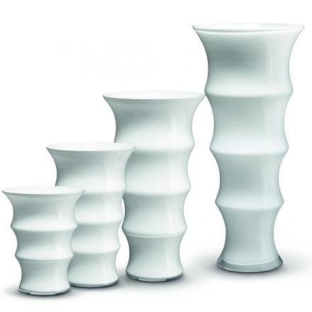 Holmegaard, 4342605, Karen Blixen Vase, Glass Vase, Large, Height 31 Centimeter, (White)