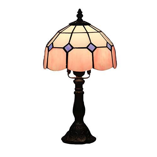 BDHBB Tiffany Style Table Lamps,8 Zoll Dekoration Retro gestäkte Glastisch Lichter, für Wohnzimmer, Kinderzimmer Nachtlicht,...