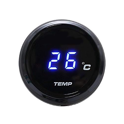 SODIAL Universal Motorrad Instrumente Thermometer Wassertemperatur Digital Display Manometer für Yamaha Tmax 530 500 (Blaues Licht)