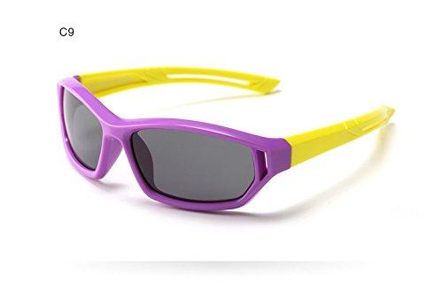 Shiny shop Mode Sport außerhalb Infant Baby Kinder Polarisierte Sonnenbrille Kinder Sicherheitsbeschichtung Brille Sun UV400 Goggles Shades Dekoration (Color : C9)