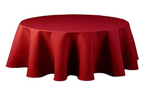 Maltex24 Nappe en tissu imitation lin imperméable ovale Couleur et taille au choix, rouge, oval 135x180