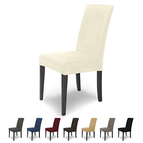 SCHEFFLER-Home MIA Microfibra 2 Fundas de sillas, Estirable Cubiertas, extraíble Funda con...