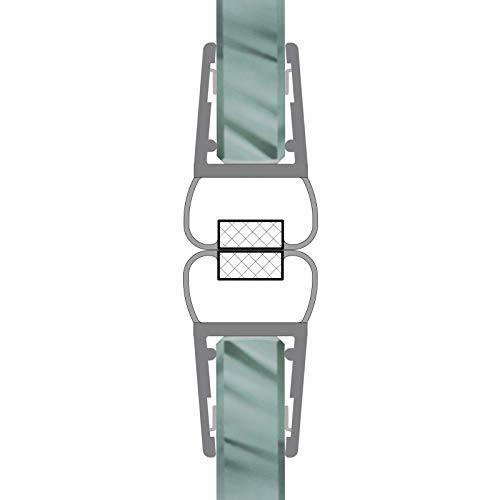 Magnetdichtungen 180° Magnetprofil Steckprofil Duschdichtung Glasdusche 1 Set für Glasstärke 4-6 mm 7,49€/m - 1 Dusche Set