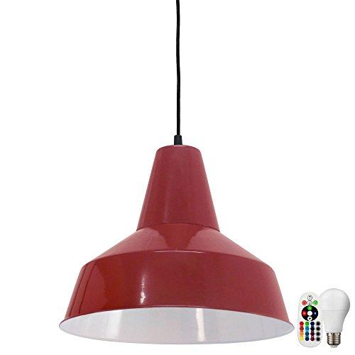 Lampe suspendue design dimmer pendentif plafonnier set de télécommande inclu LED ampoules RGB