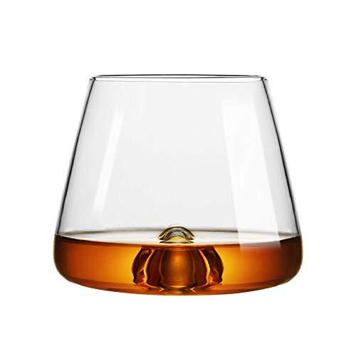 ZFLL Weinglas New Concave Bottom Vortex Whisky EIS Kuchen Steinglas Der Whiskybecher XO Chivas Brandy Snifter Bier Rotweingläser Whisky Cup, 350ml14oz