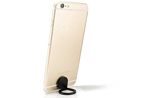 360° Drehbar Metall Finger Ring Ständer Halter Stick Mount Halterung für Handy GPS iPhone Samsung MP3PDA MP4PSP, Schwarz Ipod-dashboard Mount