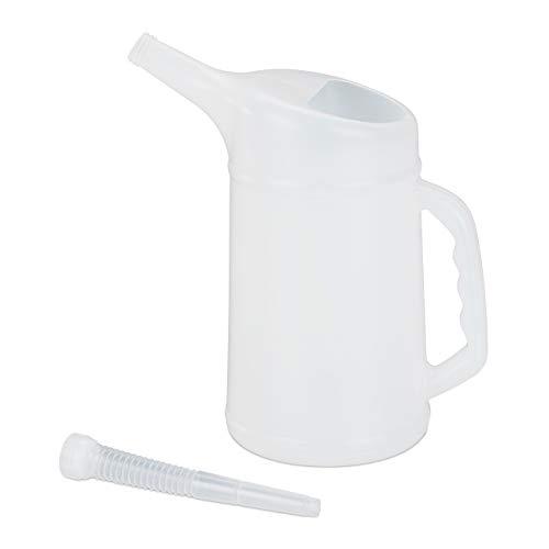 Relaxdays Ölkanne Organizer per valigie, 36 cm, Bianco (Weiß)