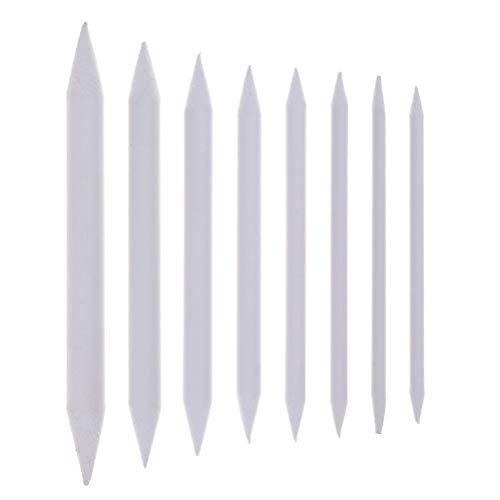 8Stück Blending Stumps & Tortillions Papierwischer-Set Art Mischer Student Sketch Zeichenwerkzeuge, 8verschiedene Größen