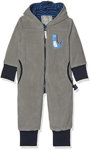 Sigikid Jungen Fleece Overall, Baby Schneeanzug, Grau (Titanium 2) 2, 86