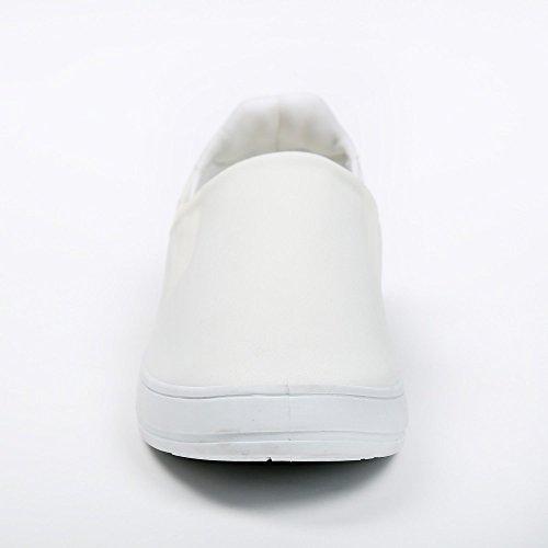 Ideal Shoes–slip-on Neopren Kaina Weiß - weiß