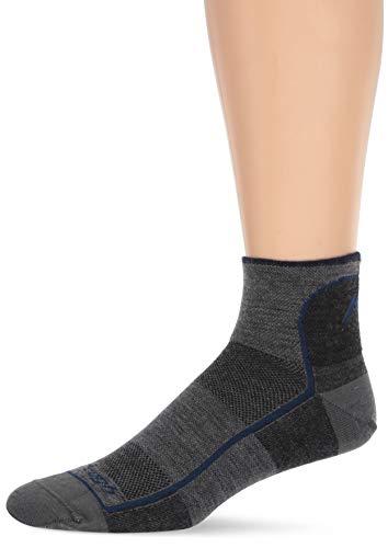 Darn Tough Vermont Herren 1/4 Merinowolle Ultraleicht Sportsocken, Herren, anthrazit, Medium (Aus Socken Vermont)