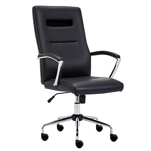 Intimate wm heart sedia da ufficio, sedia da computer, sedia con braccio regolabile, sedia girevole ergonomica, nero/grigio (nero)