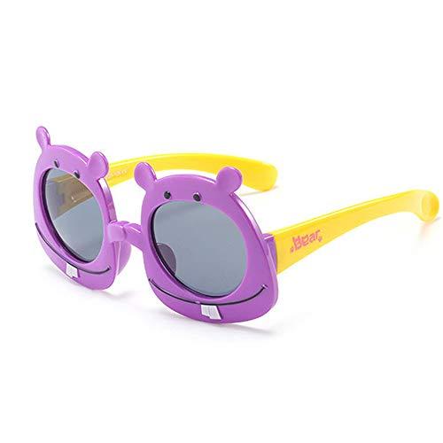 Wang-RX Cartoon Bär Kinder Sonnenbrille Polarisierte Baby Brille TR90 Flexible Sicherheitsrahmen Shades Für Jungen Mädchen UV400