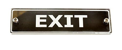Exit Tür Schild. Modernes Design einfach zu installieren für Business, Freizeit, Einzelhandel, Gastgewerbe, Corporate, Bildung Schild für Tür groß