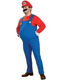 Super Mario Komplett-Kostüm mit Bauch für Erwachsene - Gr. XL