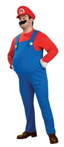 -Kostüm mit Bauch für Erwachsene - Gr. XL (Mario Prinzessin Kostüm)