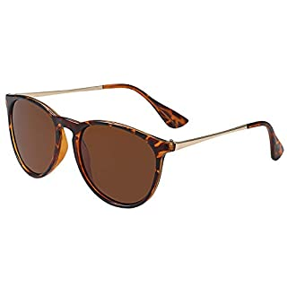 Aroncent Unisex Retro Sonnenbrille Metallrahmen Fliegerbrille Polarisierte Sonnenbrille Verspiegelt Pilotenbrille UV400 Schutzbrille für Damen und Herren 6 Farben