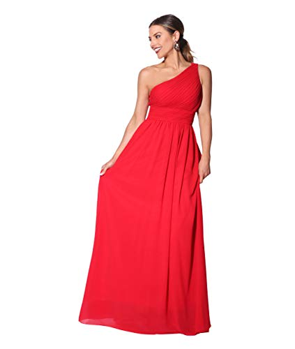 KRISP ES4814-RED-10, Vestido Mujer Fiesta Largo Talla