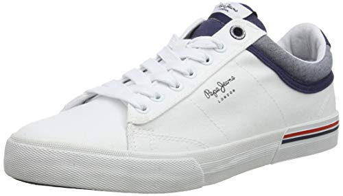 Pepe Jeans North Court, Zapatillas para Hombre, Weiß (800white 800), 45 EU