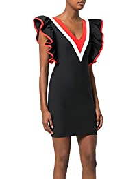 MSGM Mujer 2341MDA17Y17463599 Negro Algodon Vestido