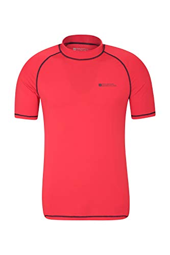 Mountain Warehouse UV-Badeshirt für Herren - Schwimmshirt mit UPF50+, schnelltrocknend, Flache Nähte UV Shirt - Ideal für Schwimmen und Tragen unter Einem Schwimmanzug Rot XXX-Large