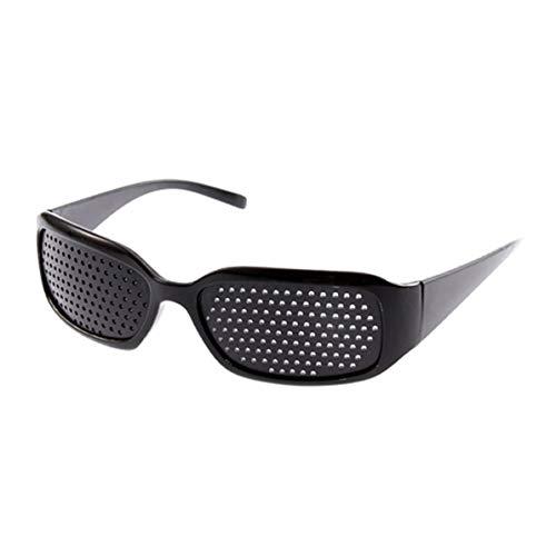 WEIWEITOE Mann und Frau Vision Care übung Auge sehvermögen verbessern Brille Brillen Brillen Mode kleine Loch Brille, schwarz,