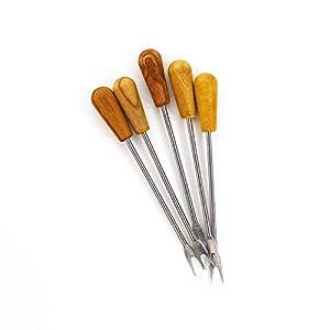 Olivenpicker und Käsegabel | Picker aus Holz 5er Set | Küchenhelfer | Party Picker | Bowle Picker | Tischdeko | Dekorative Picker aus Holz