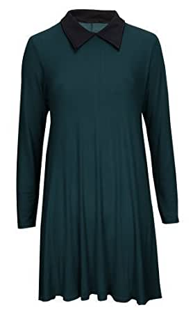 Baleza Women's Long Sleeve Casual Dress S/M (8-10) Blue