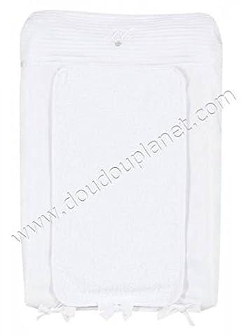 Tartine et Chocolat - Housse de matelas à langer Monogramme (50 x 75 cm) - Blanc
