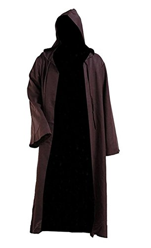 QianQian Herren Klassisch Cosplay Kostüm Ritter Mit Kapuze Kleid Halloween Outfit (XL, (Kleid Für Männer Halloween)