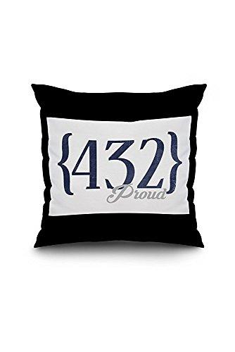 Midland, Texas - 432 Area Code (Blue) (18x18 Spun Polyester Pillow Case, Black Border)