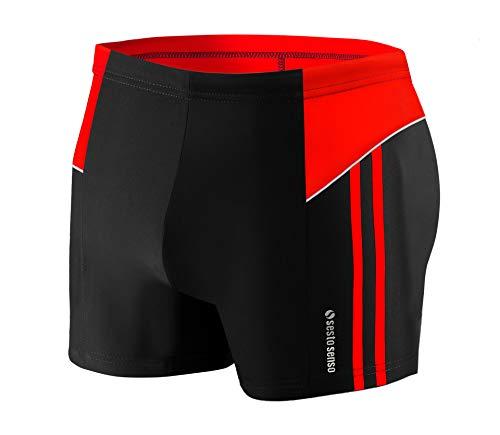 Sesto Senso® Herren Badehose Swimmhose (Größen von M bis 4XL) Bademode Swimming Shorts BD 384 (3XL, Schwarz)