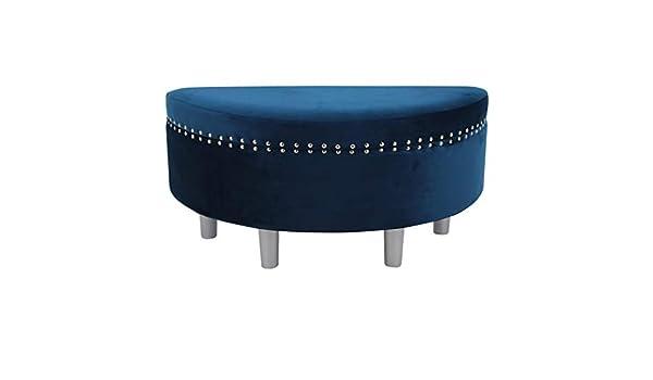 Happy Home Company 12602 Sgabello semicircolare in velluto Blu scuro colore