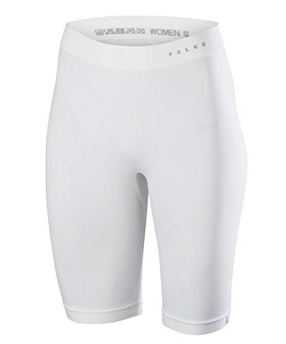 FALKE Damen Unterwäsche Warm Short Tights white, S (Running Long Shorts Für Frauen)