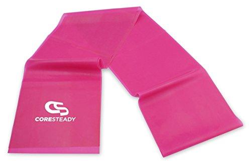 Bandas de Resistencia Terapéuticas Coresteady | Bandas de Fitness de calidad superior para Pilates, Yoga, entrenamiento de fuerza | Fisioterapia y rehabilitación |Para hombres y mujeres |Guía incluida