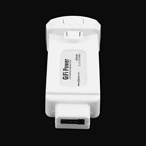 HoganeyVan Batería compacta de polímero de Litio de 11.1V 1300mAh de 1 Pieza para Yuneec Breeze Drone