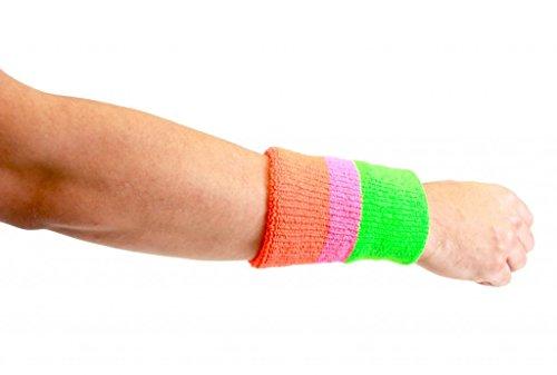 Kostüm Warrior Wrestling Ultimate - The Ultimate Warrior 3-Stripe Wristband Set (Includes 2 Wrisbands)
