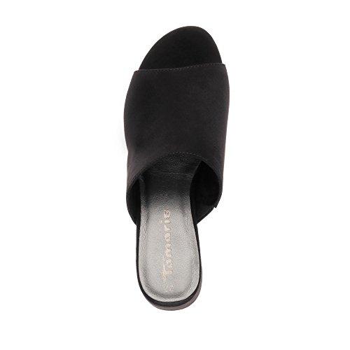 Tamaris 27204, Sandales Bout Ouvert Femme Noir (Black Uni 007)