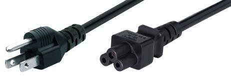 Tecline 35902us 1.8m C5Coupler schwarz Stromkabel