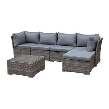 Gartenmöbel set lounge  Amazon.de: greemotion Rattan-Lounge Toronto - Gartenmöbel-Set 6 ...