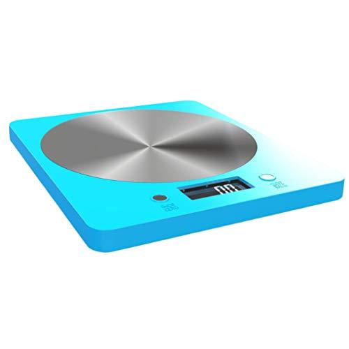 Báscula de cocina, Cocina electrónica Pantalla LCD Báscula de alimentos, Básculas de pesaje de alta precisión, pesa verduras, frutas, harina, huevos, 11 lb / 5 kg unidad g/oz / ml/fle