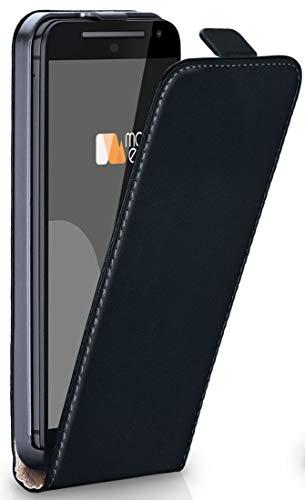 moex Motorola Moto G2 | Hülle Schwarz 360° Klapp-Hülle Etui Thin Handytasche Dünn Handyhülle für Motorola Moto G 2. Generation Case Flip Cover Schutzhülle Kunst-Leder Tasche