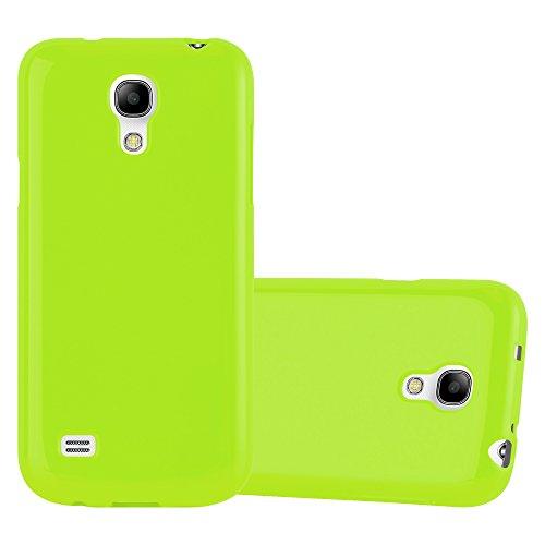 Cadorabo Custodia per Samsung Galaxy S4 Mini in Jelly Verde – Morbida Cover Protettiva Sottile di Silicone TPU con Bordo Protezione – Ultra Slim Case Antiurto Gel Back Bumper Guscio