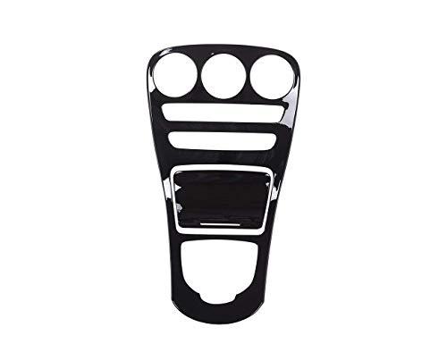 ABS Mittelkonsole Verkleidung Rahmenverkleidung für C-Klasse W205 Langer Radstand 2015-2017 Piano Black, Keine Uhr EINWEG